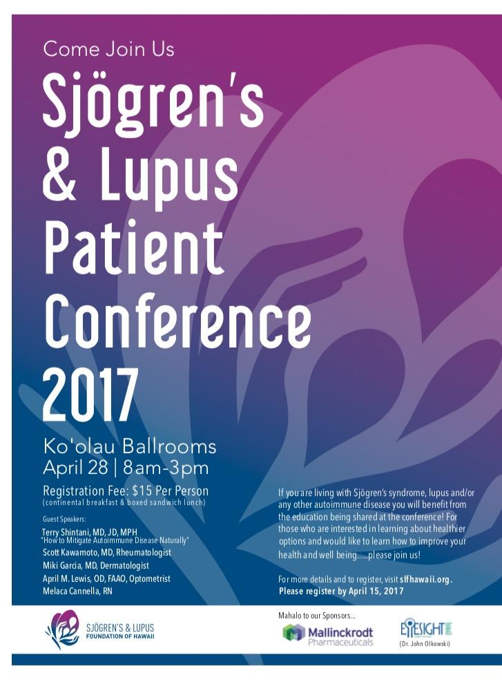 """Sjögren's and Lupus Patient Conference 2017 """"AGENDA"""""""